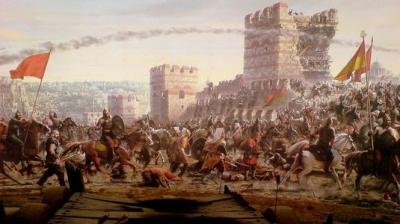 فتح قسطنطنیه در 21 جمادی الاول 857 ق. برابر با 29 مه 1453 م.